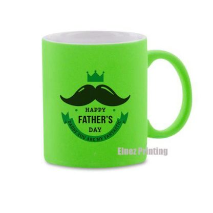 Neon green mug